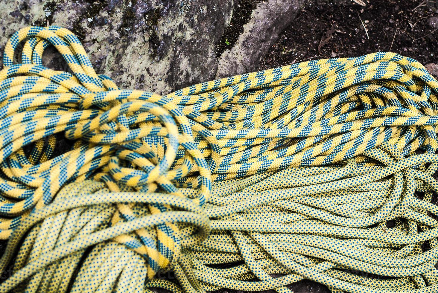 Ropes for climbing photo