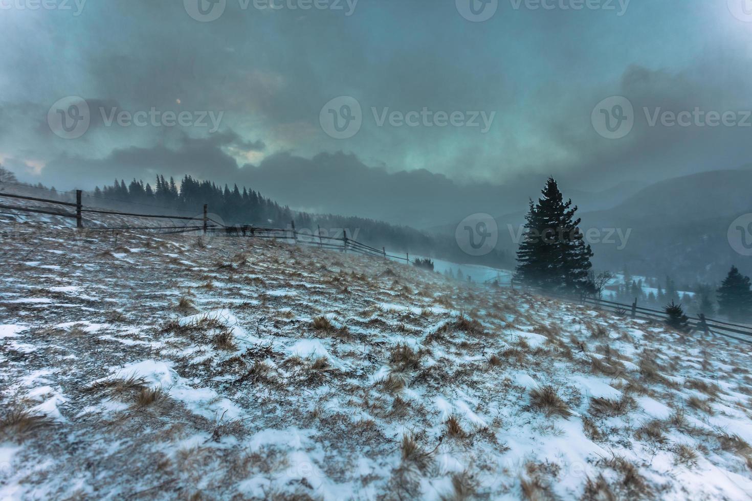 nevada. invierno en las montañas foto