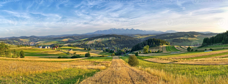 Panorama of Tatra mountains, Poland photo