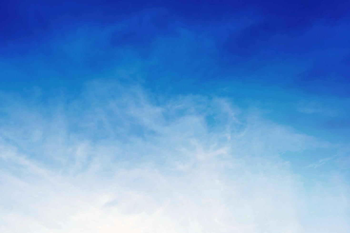 Blue sky with beautiful clouds photo