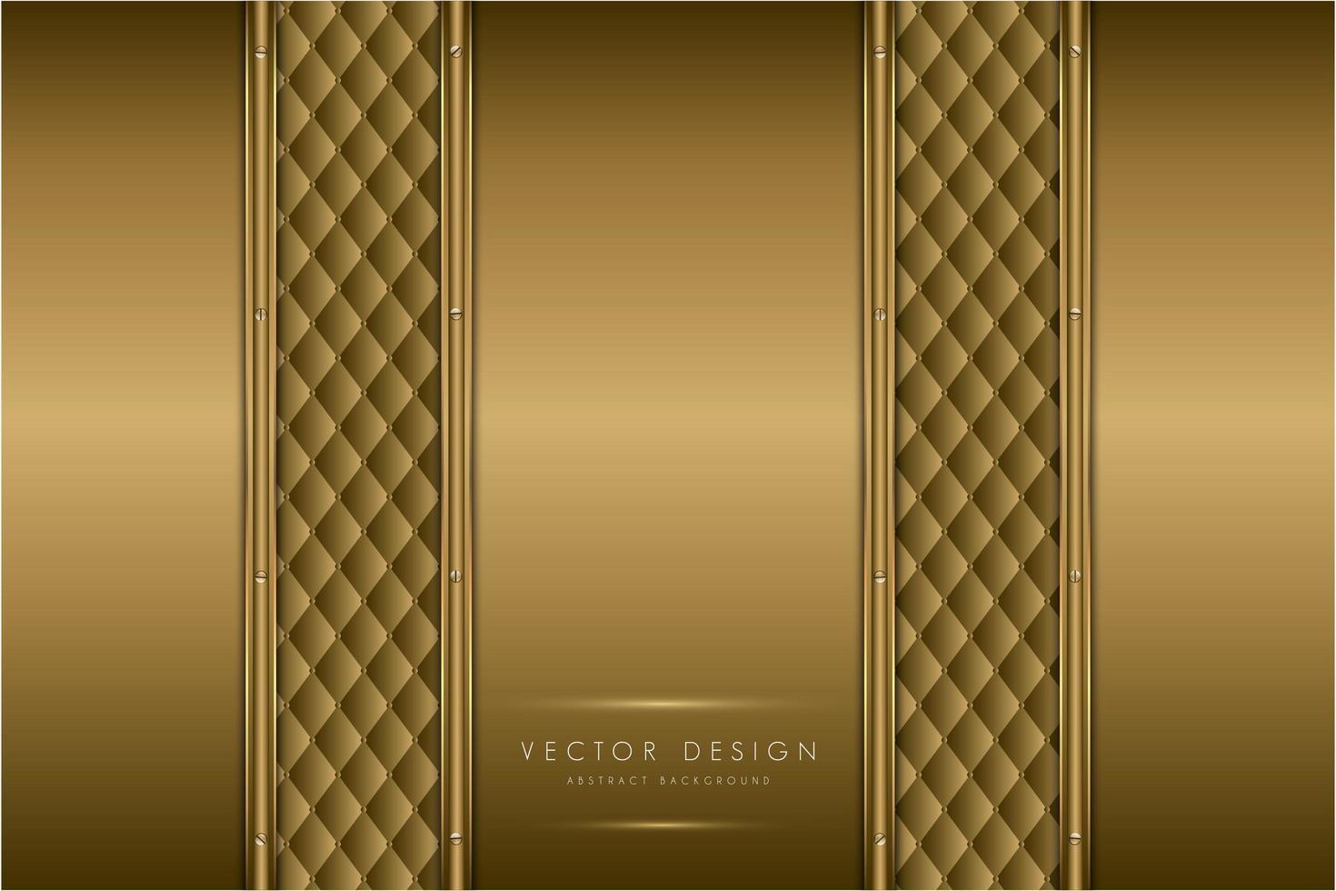 elegantes paneles de metal dorado con textura de tapicería vector