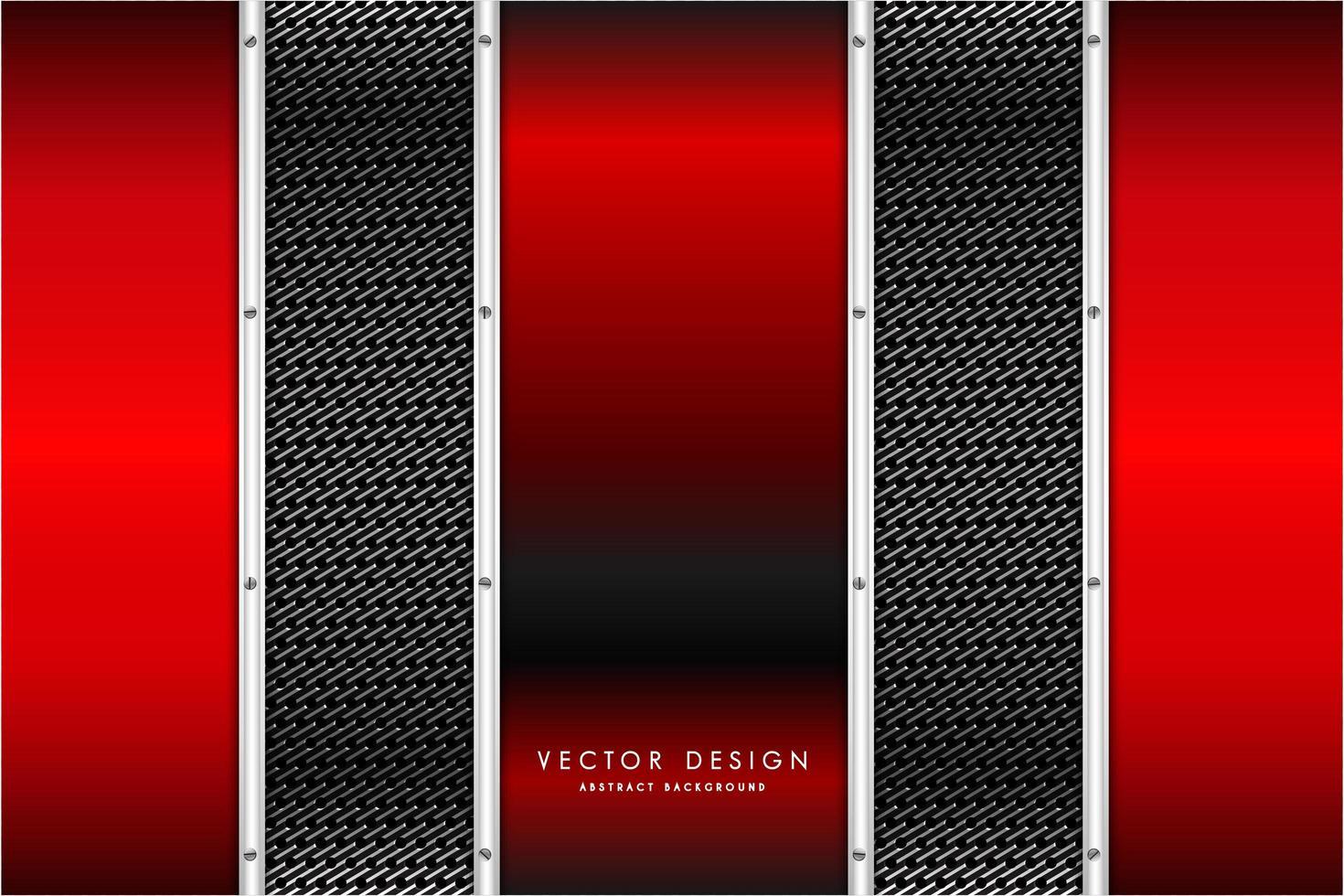 Metallic red vertical panels over carbon fiber texture vector