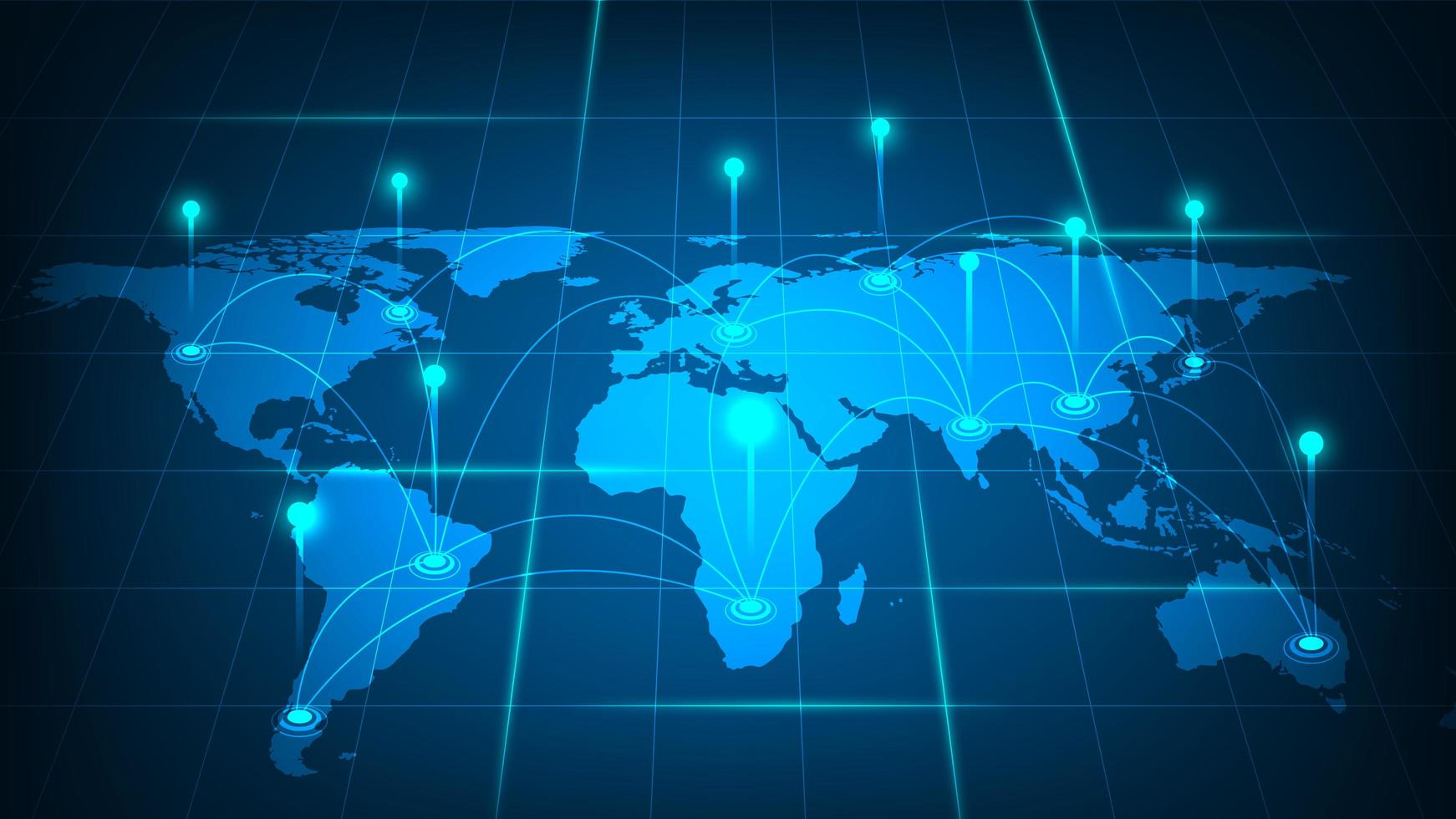 Global network connection concept vector