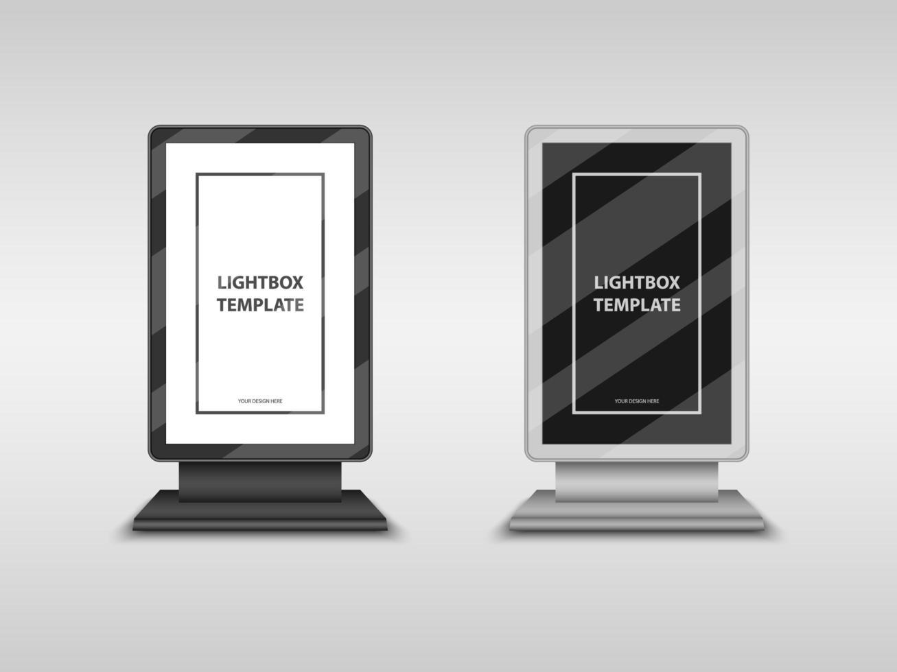 caja de luz, cartelera de la ciudad, maquetas de letreros de tótem vector