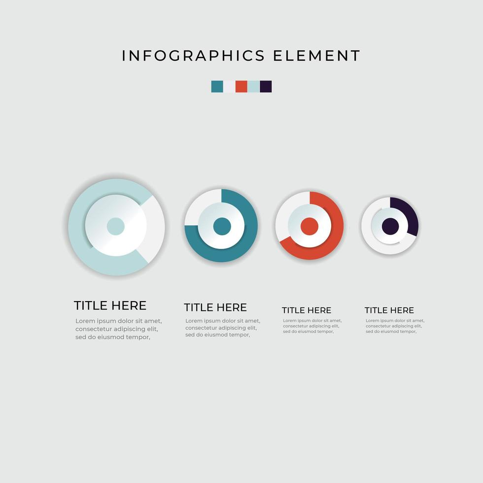 Multiple Circle Infographic Diagram vector