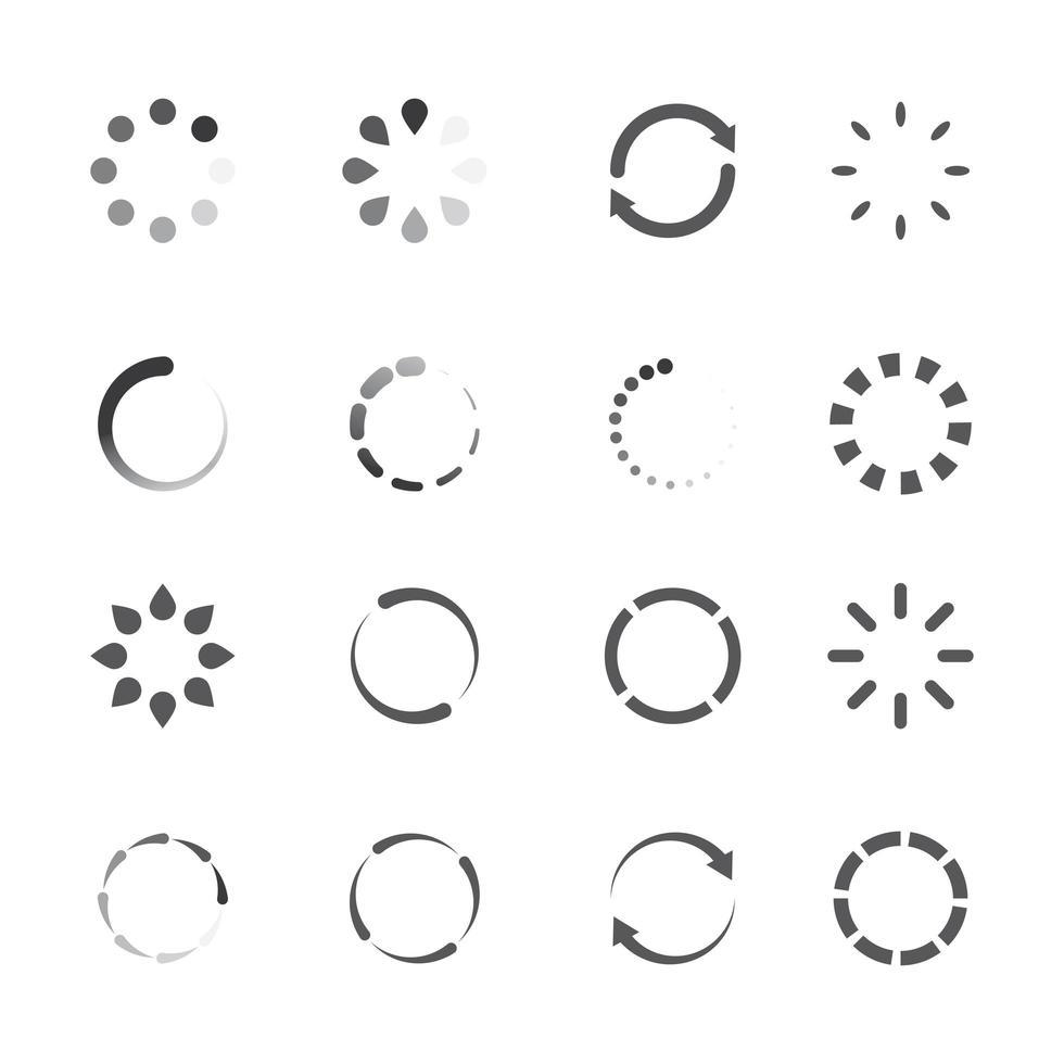 cargando conjunto de iconos vector