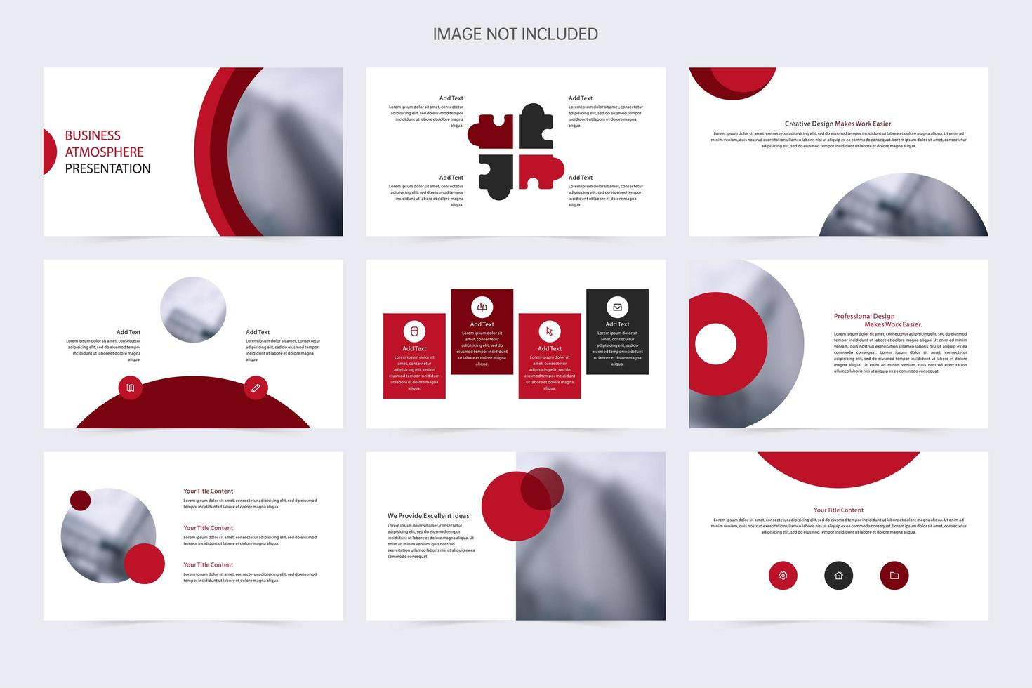Red Minimalist Corporate Presentation Template vector