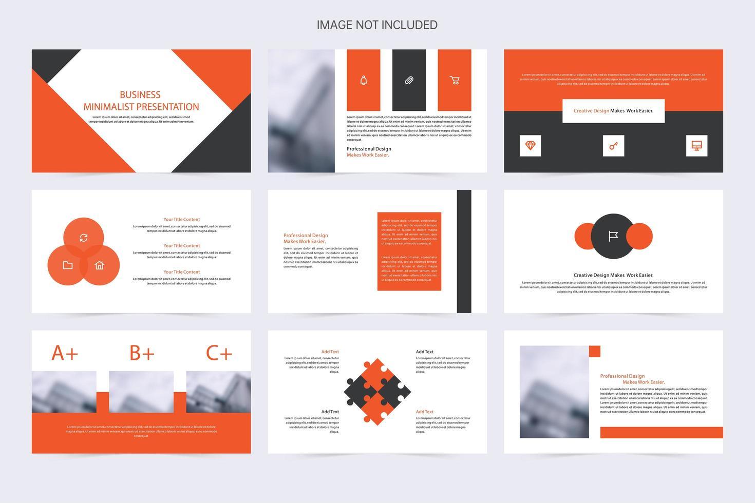 elementos de presentación de diapositivas multiusos de negocios vector