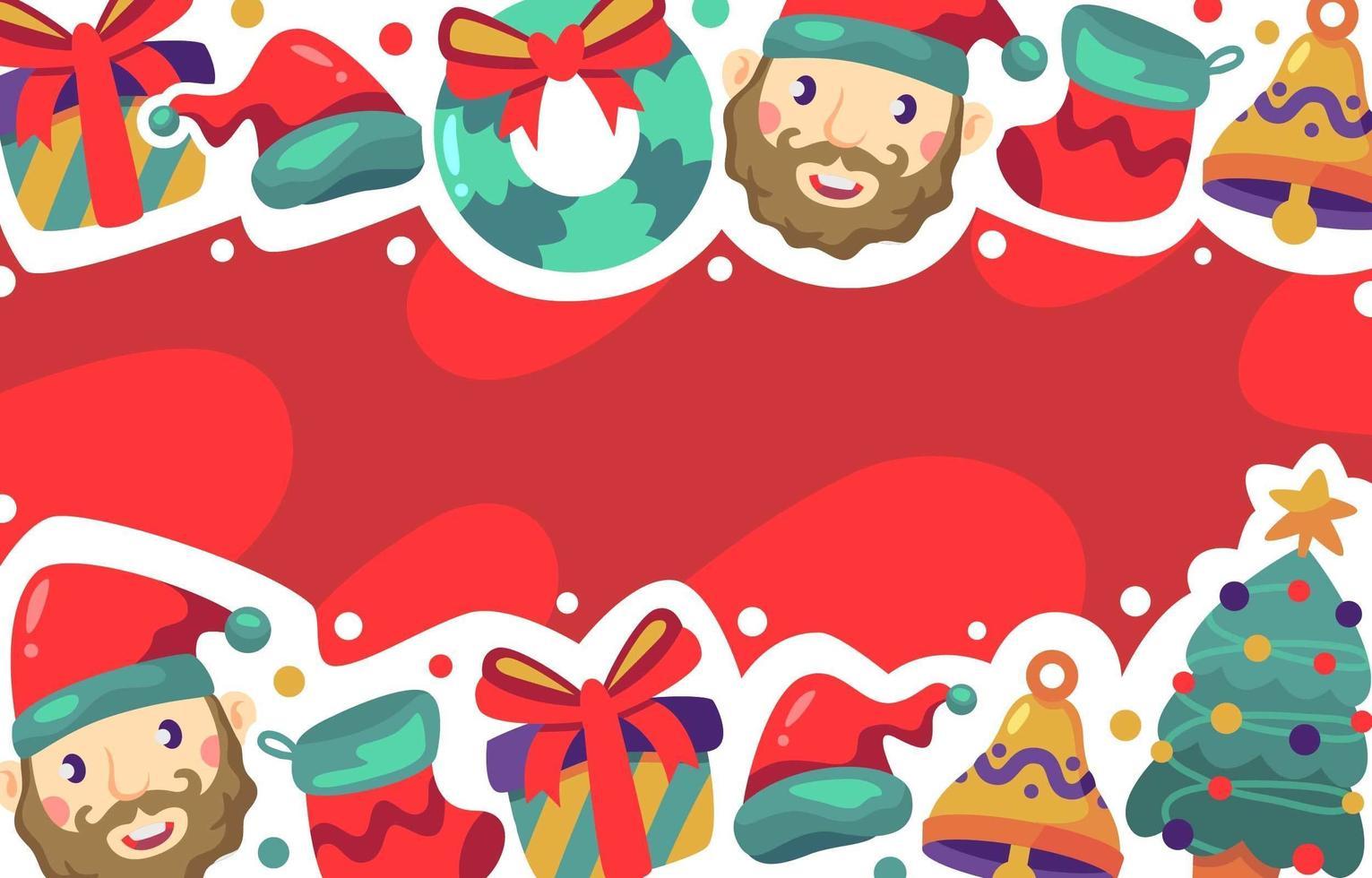 fondo de navidad festivo y lindo vector