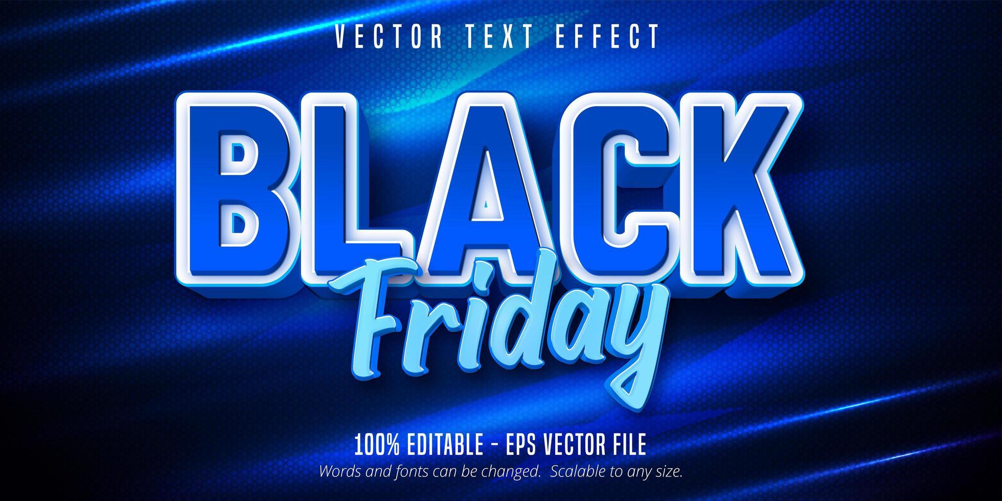 Black Friday editable text effect vector