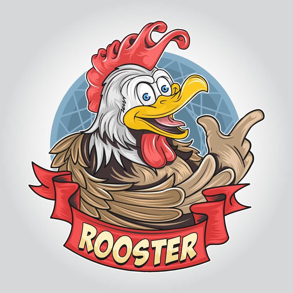 diseño de gallo o pollo vector