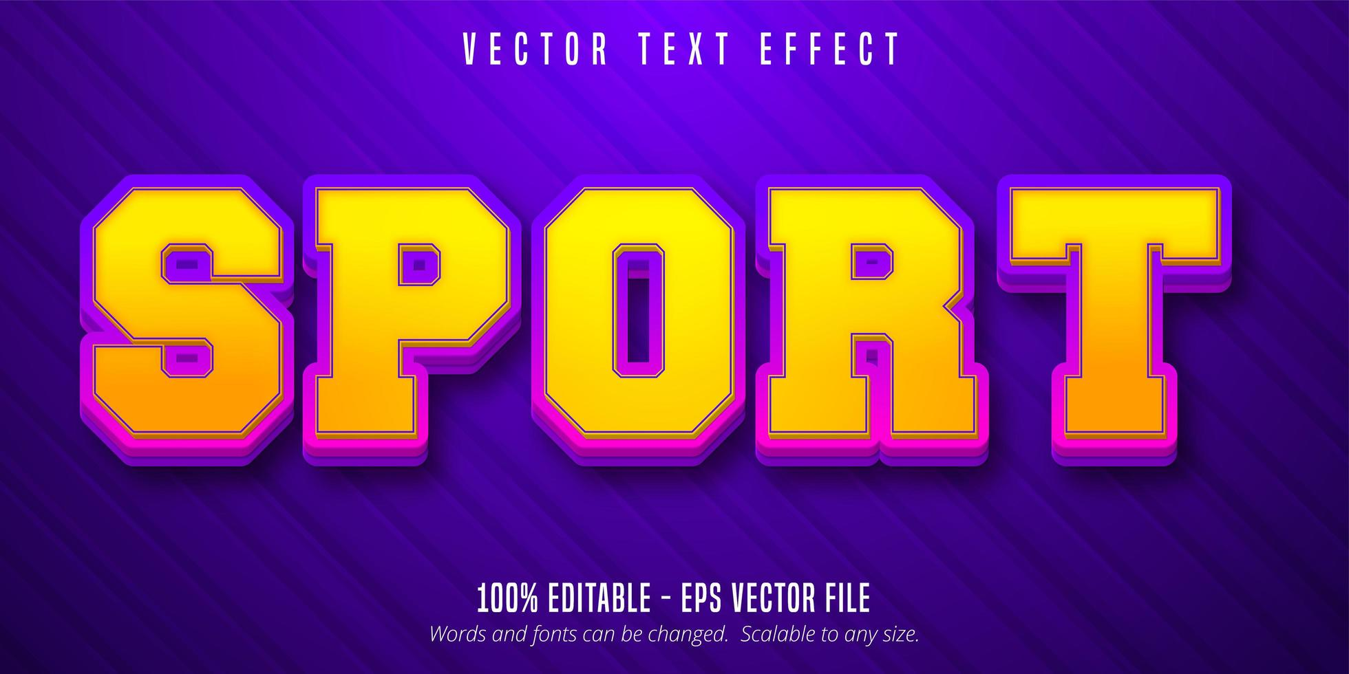 efecto de texto editable de estilo deportivo vector
