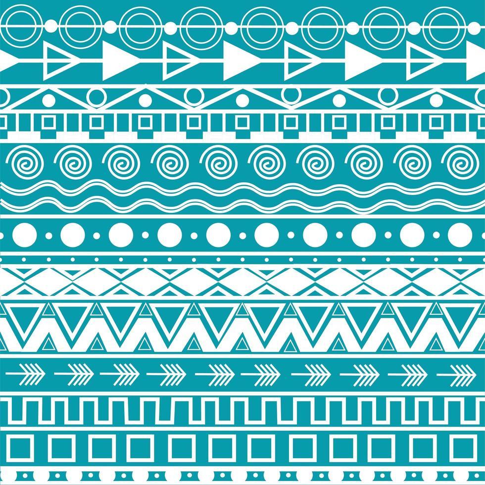 patrón hippie bohemio vector
