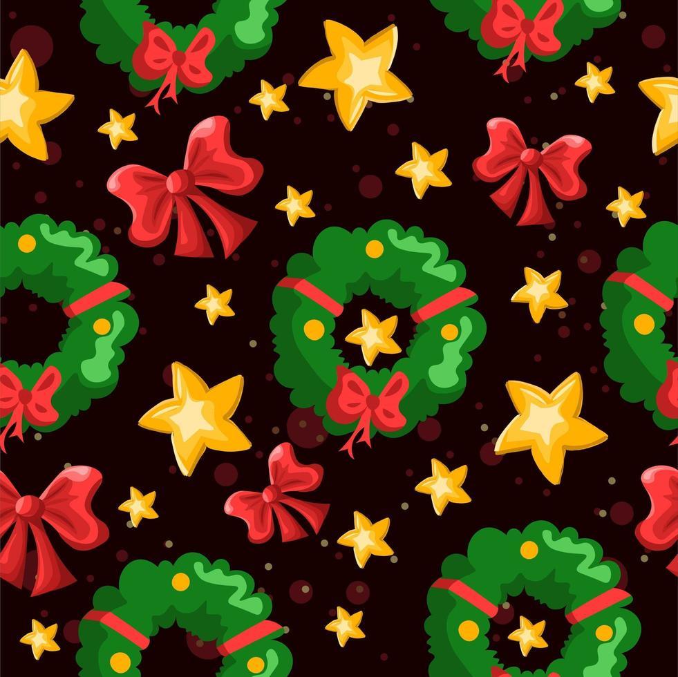 decoraciones navideñas de invierno patrón repetitivo vector