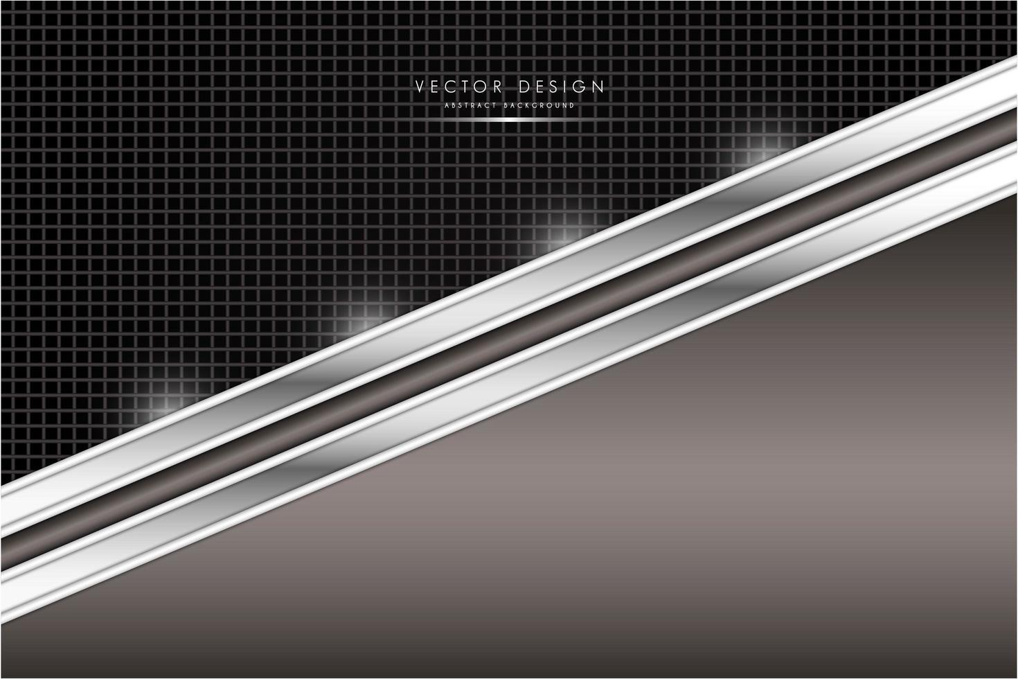 Metal marrón y plateado con textura de fibra de carbono. vector