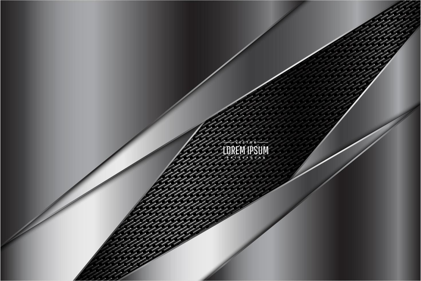 Capas metálicas grises sobre textura oscura vector