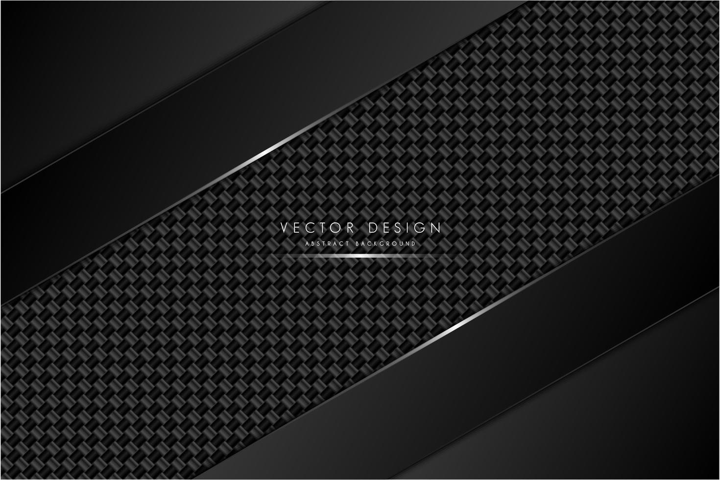 Fondo metálico negro y gris con fibra de carbono. vector