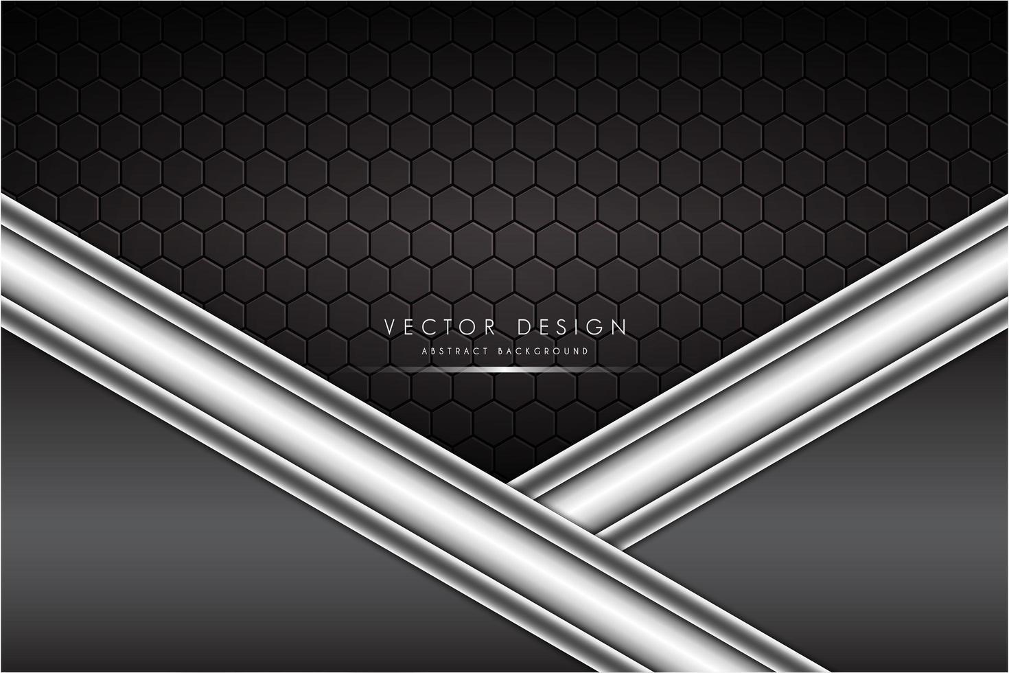 Fondo metálico gris y plateado con fibra de carbono. vector