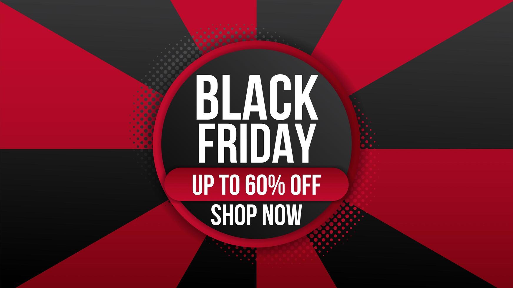 folleto de banner promocional de venta de viernes negro vector