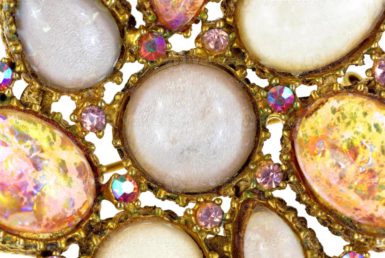 Close view of an antique brooch photo