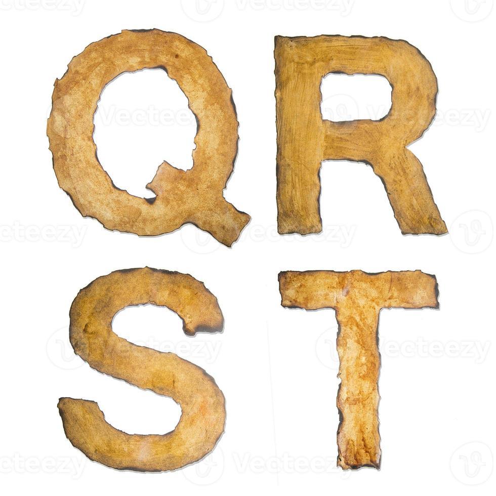 Old, vintage alphabet QRST photo