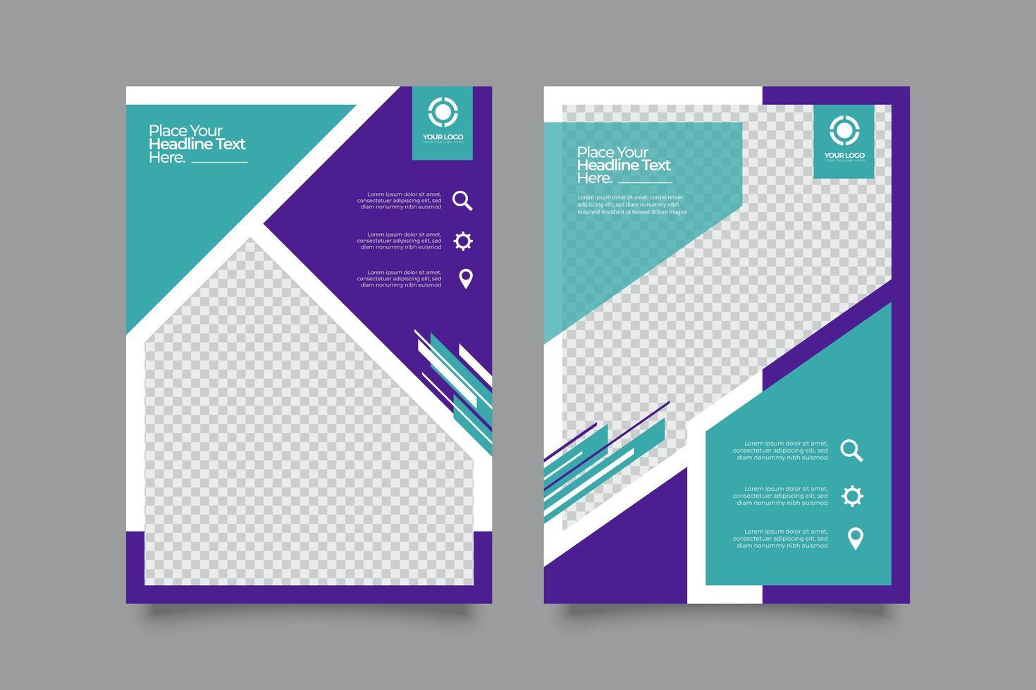 conjunto de diseño de plantilla de volante de promoción empresarial vector