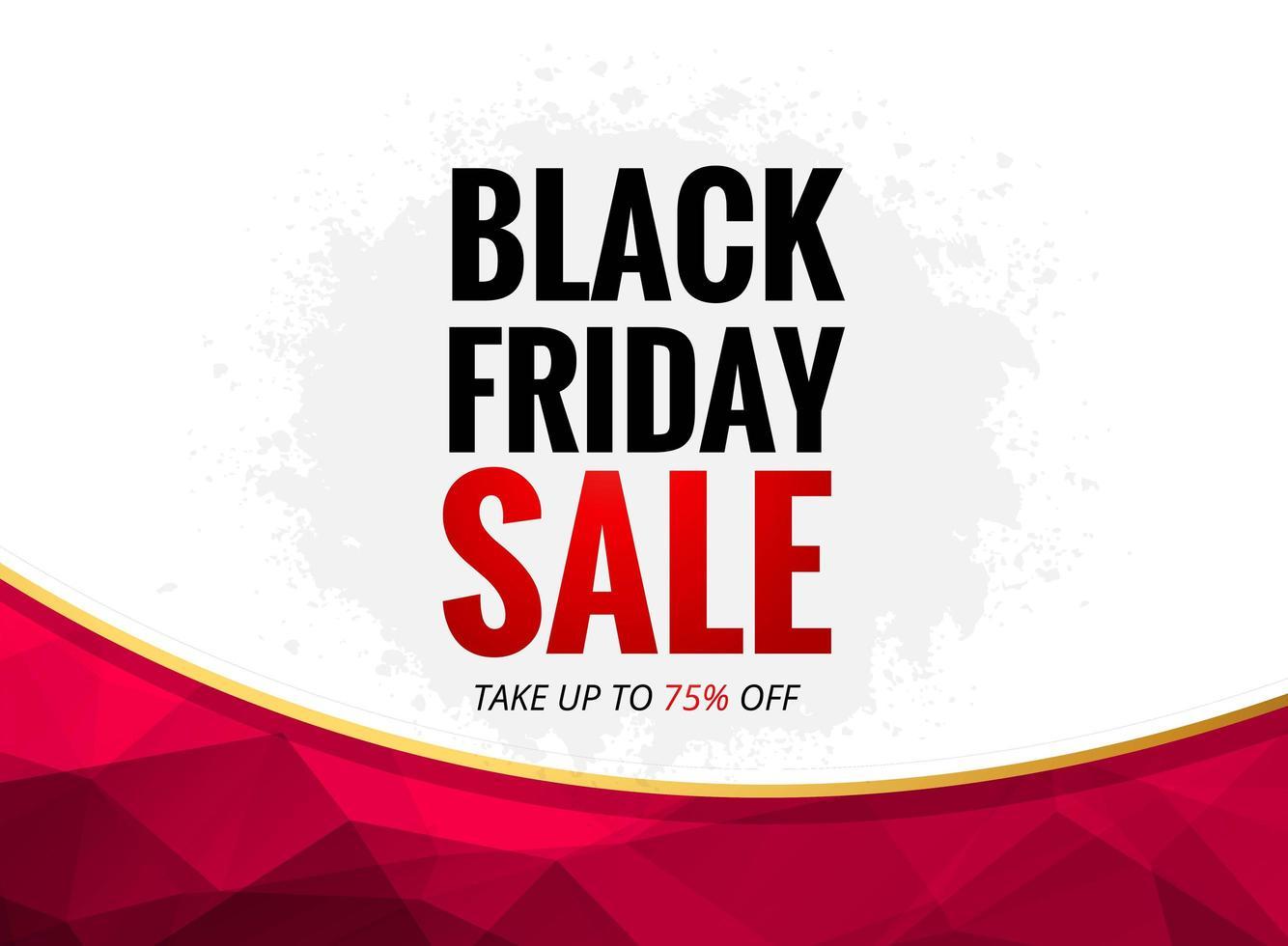 cartel de venta de viernes negro con curva poligonal vector