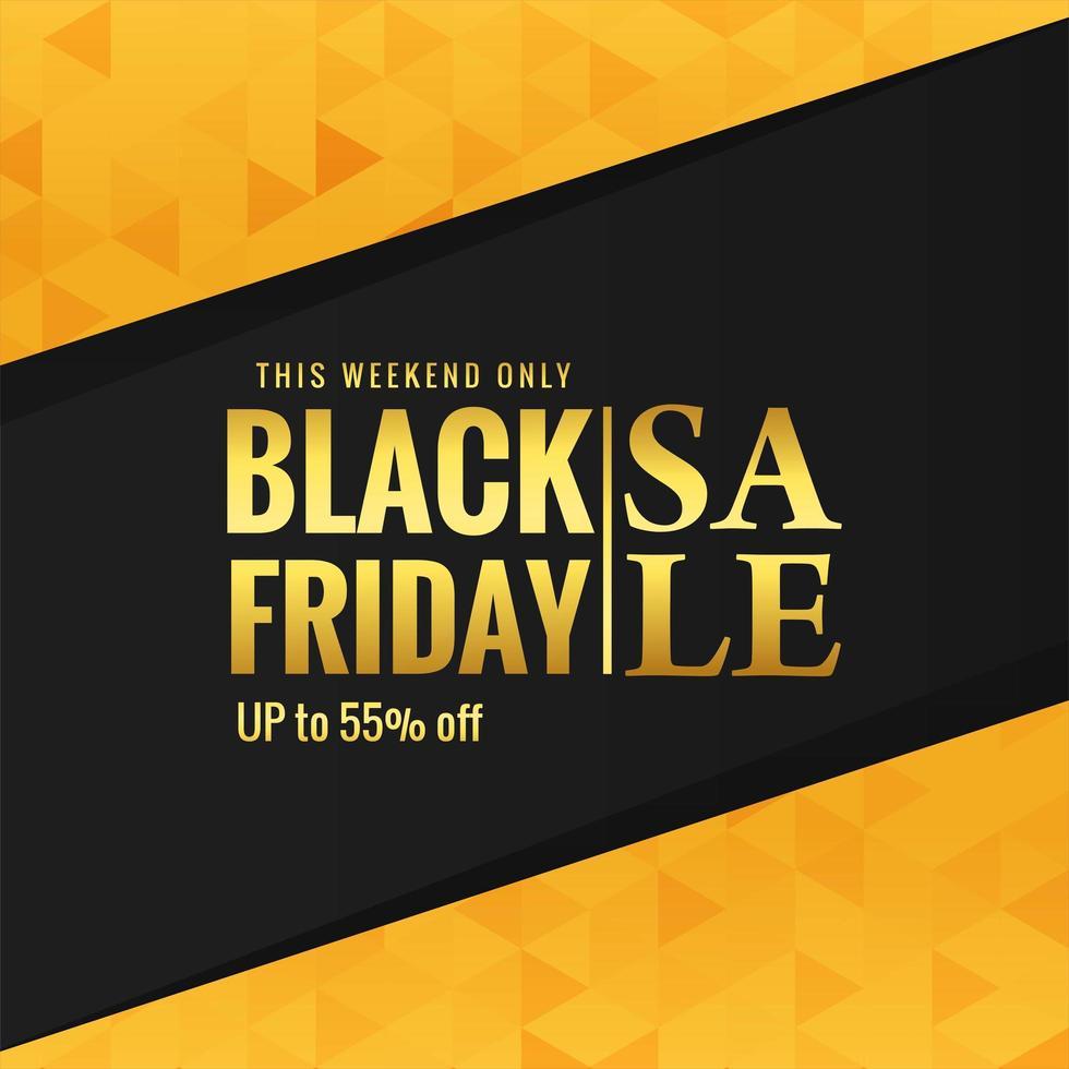 cartel de venta de viernes negro dorado vector