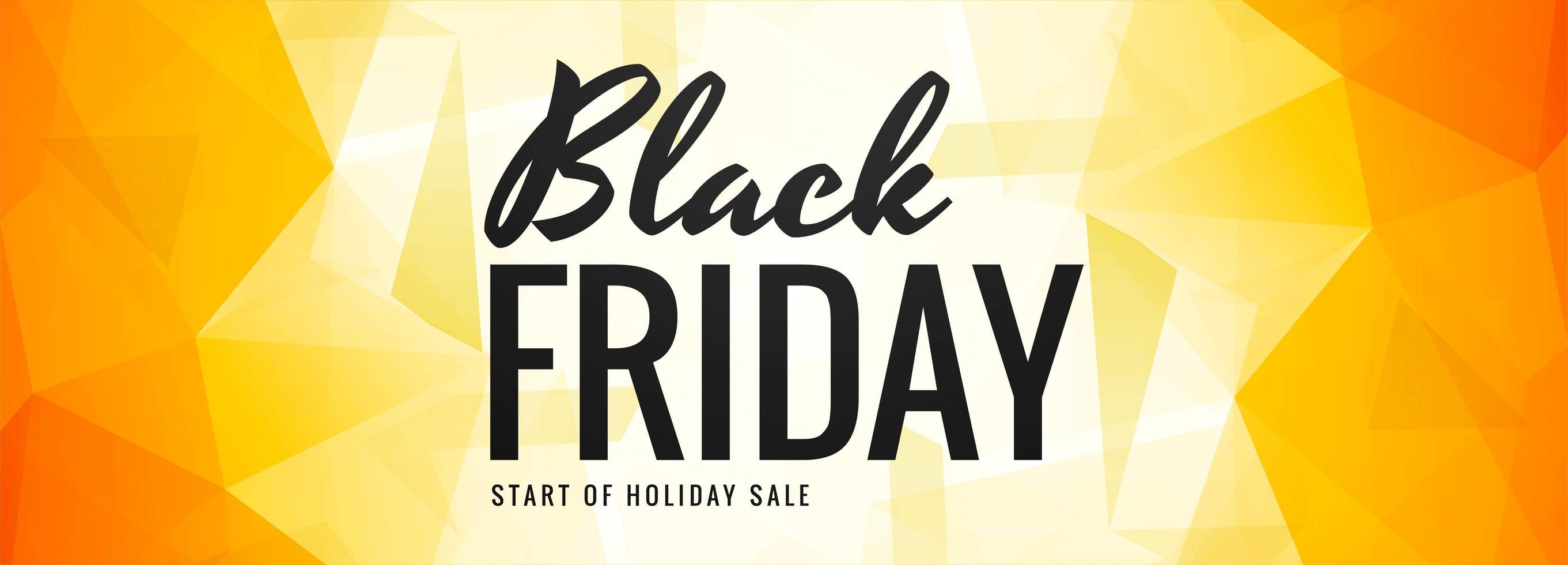 banner de polígono de venta de viernes negro vector