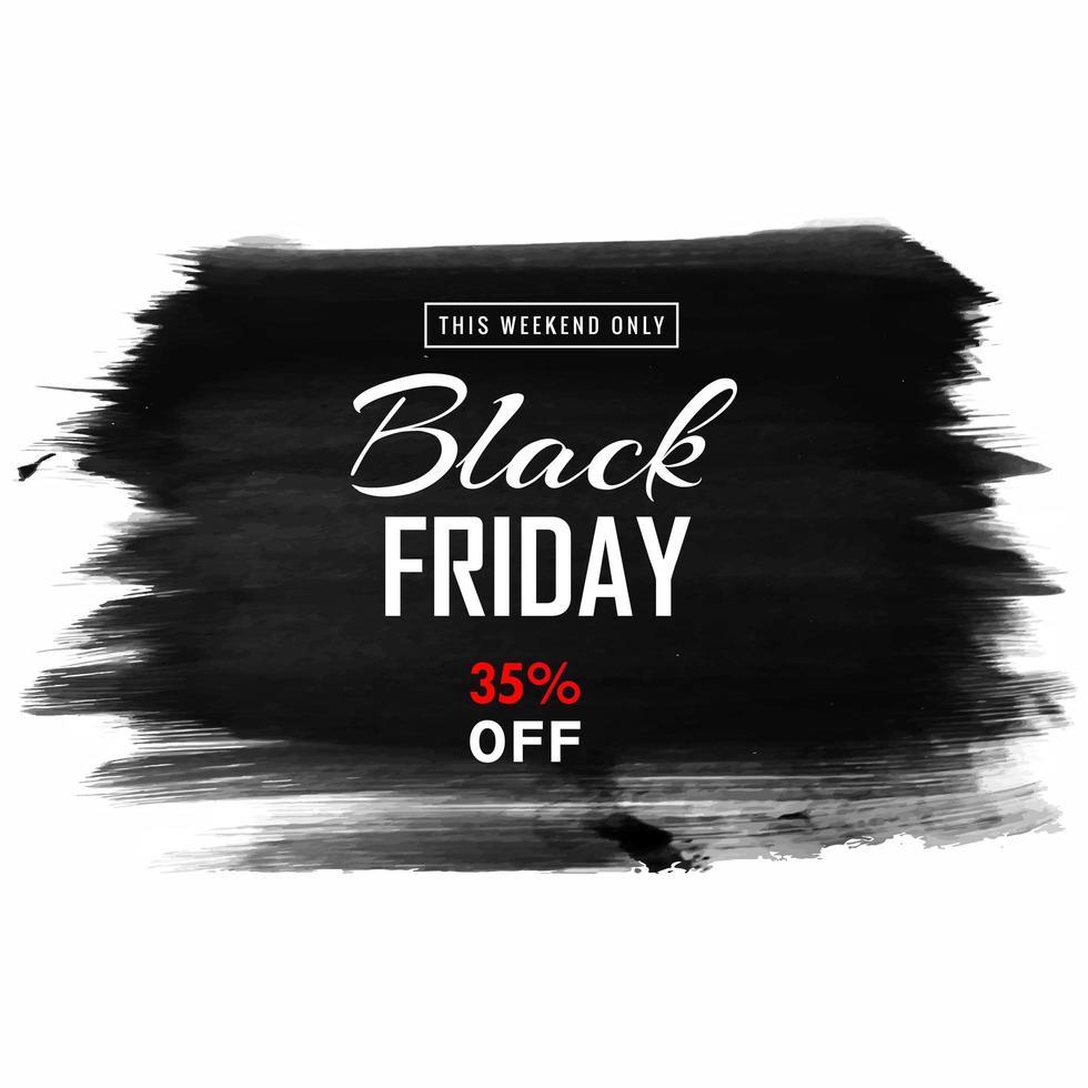 banner de venta de pincelada de viernes negro vector