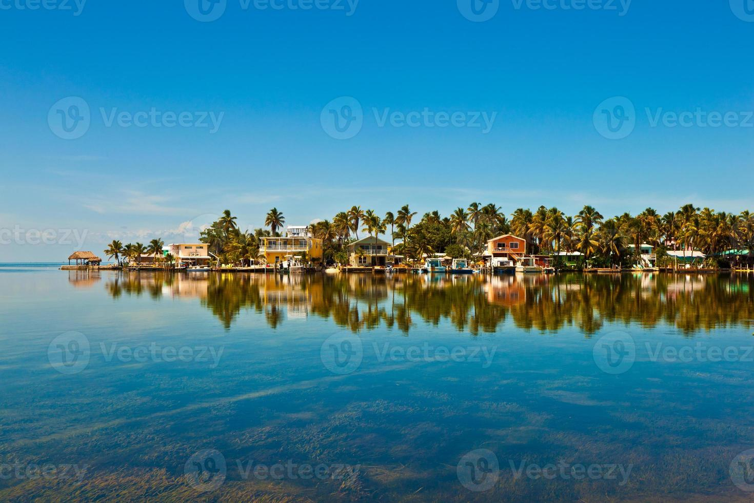 Beautiful village by the ocean photo