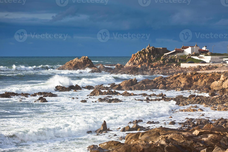 Western Portugal Ocean Coastline near Porto photo
