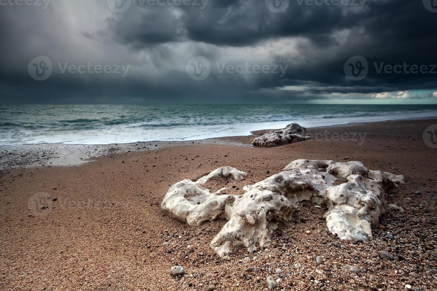 storm over Atlantic ocean coast photo