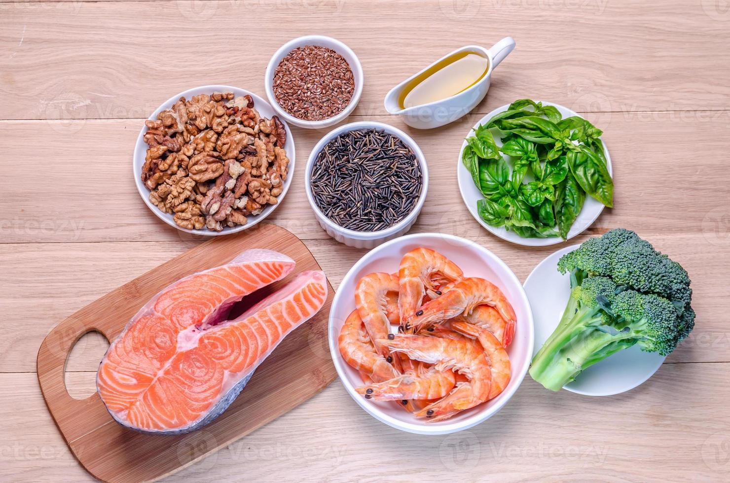 Plant-based and animal sources of Omega-3 acids photo