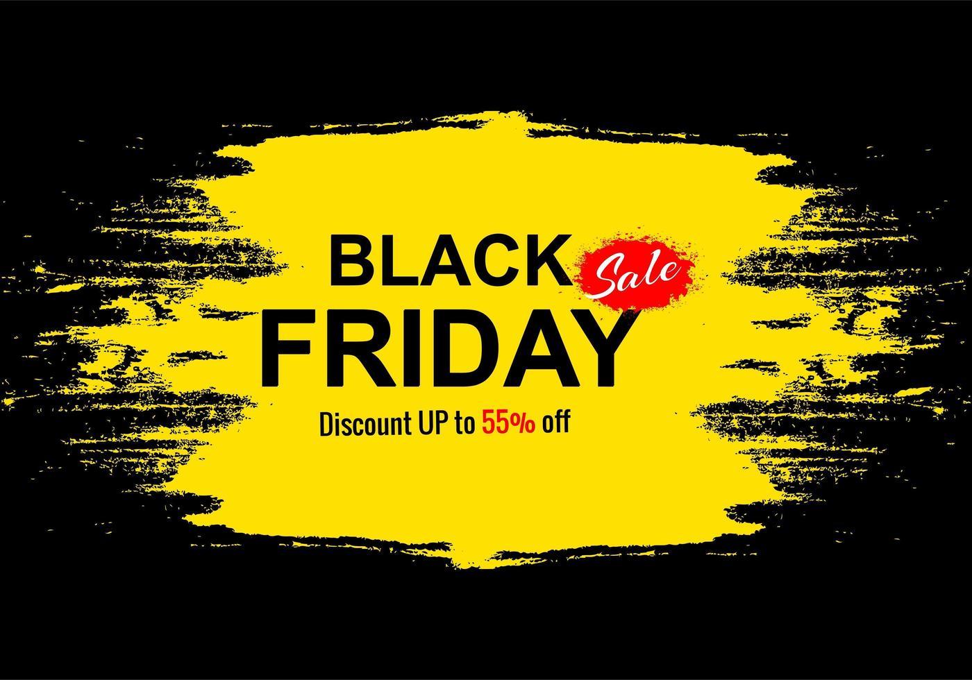 Black Friday Holiday Sale for Grunge Banner Background vector