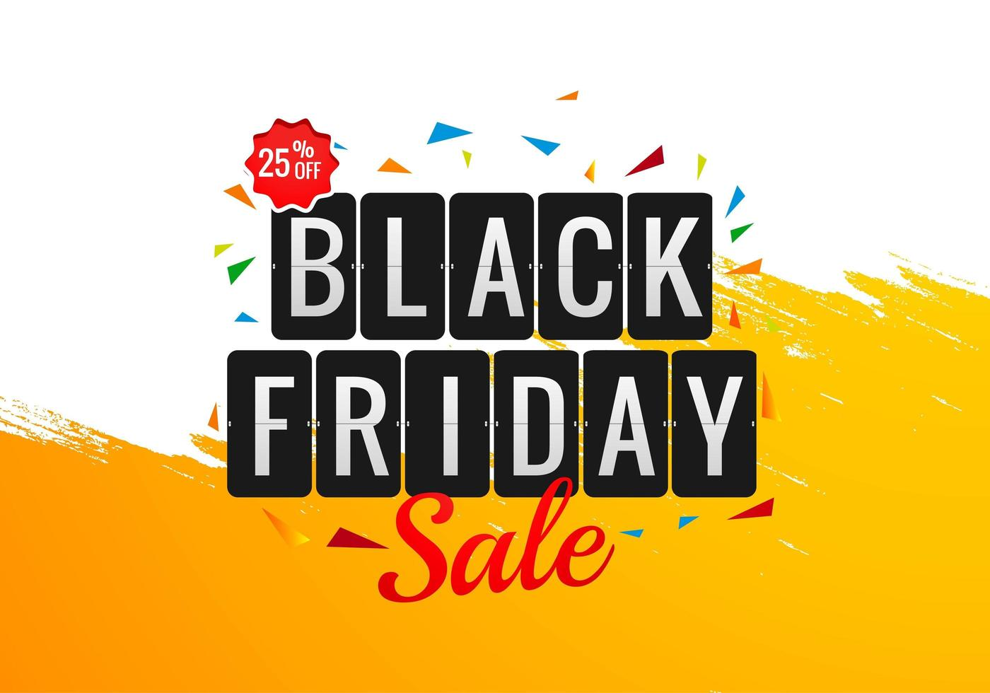 Black Friday Holiday Sale Banner Template Design vector