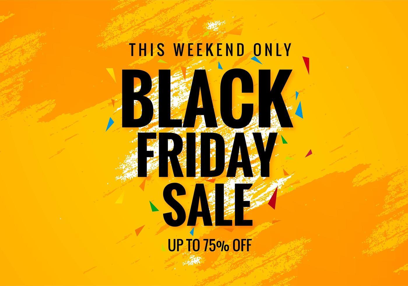 Black Friday Weekend Sale Poster Banner Background vector