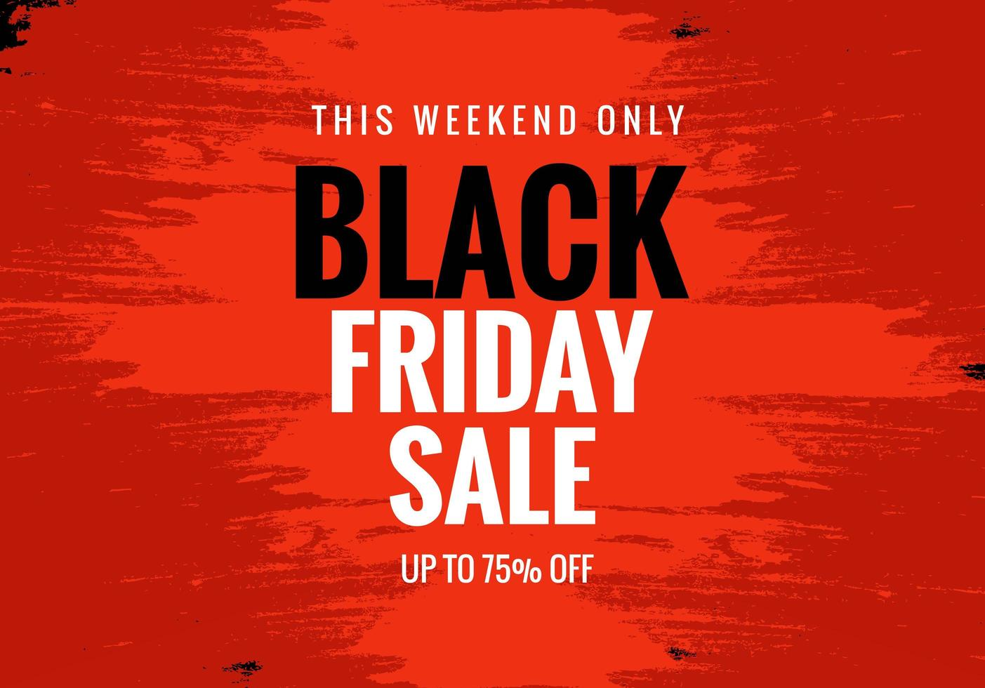 Black Friday Sale for Poster Banner Layout Background vector