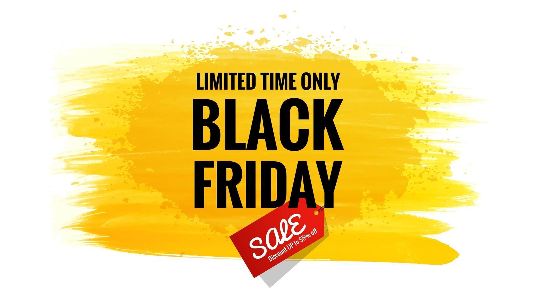 fondo de banner de oferta de venta plana de viernes negro vector