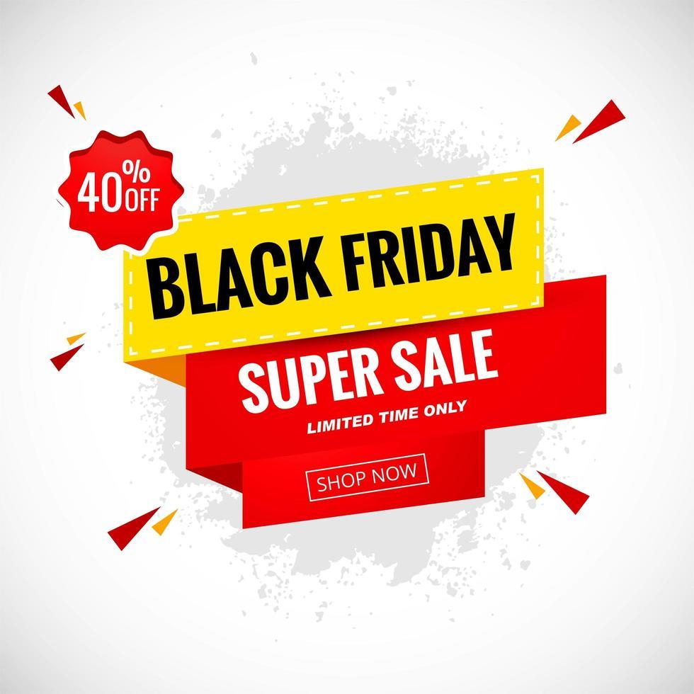 fondo de etiqueta de venta de promoción de viernes negro vector