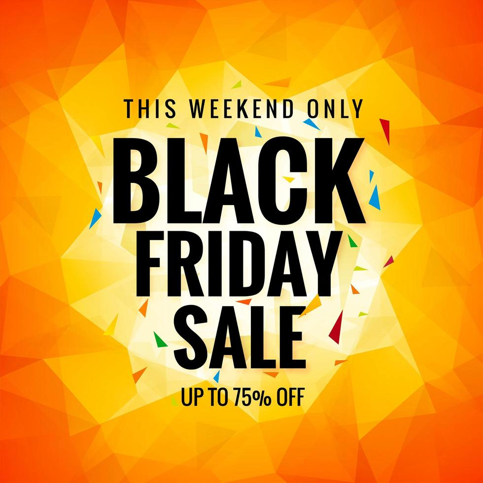 Black Friday Sale Concept for Polygon Background vector