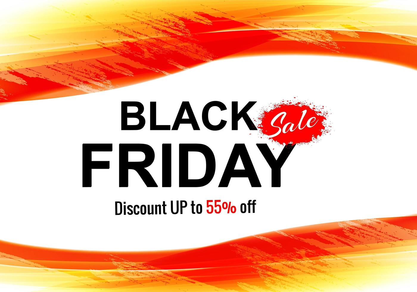 Black Friday Concept with Discount Card Background vector