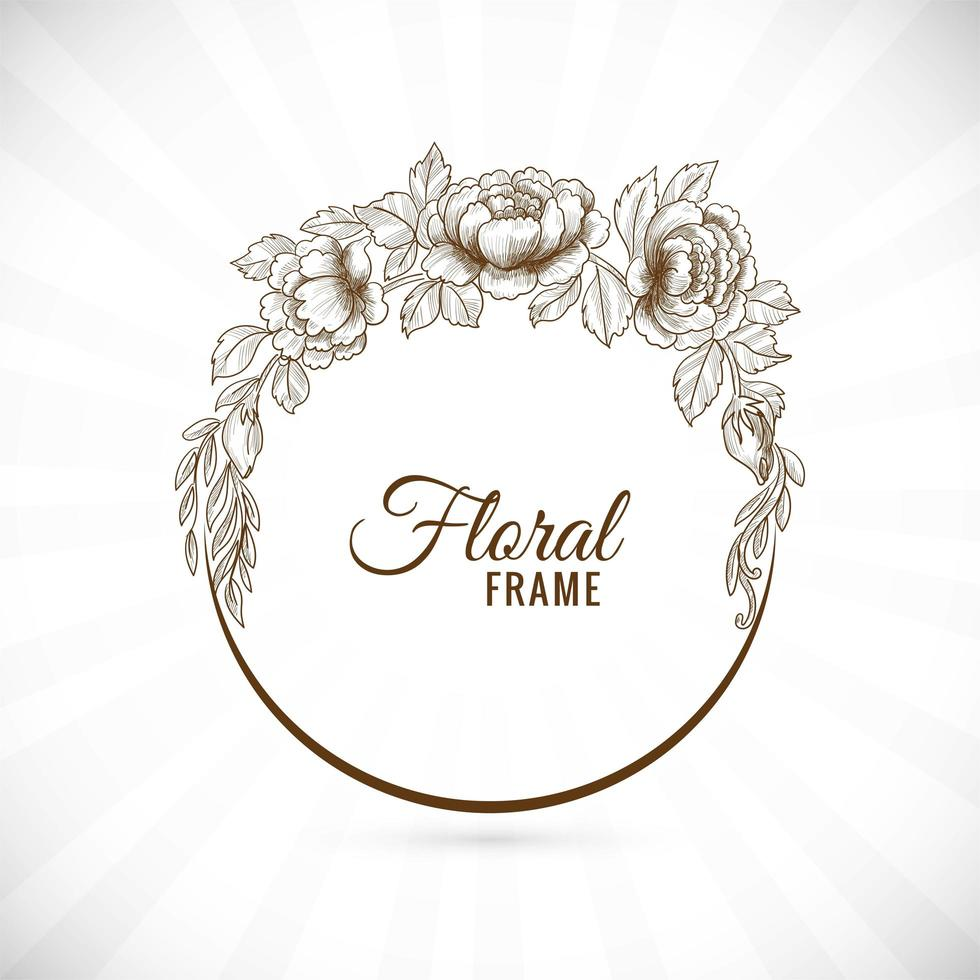 fondo de marco floral moderno vector