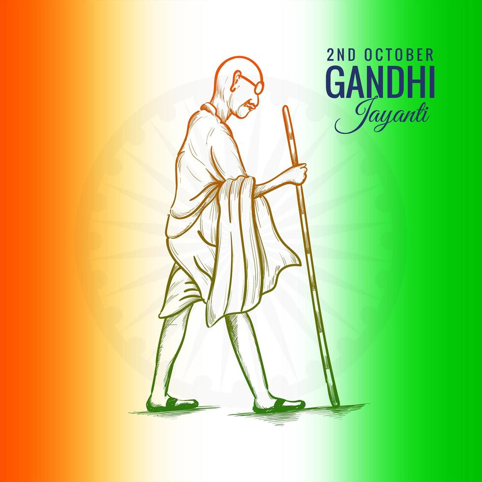 2 de octubre gandhi jayanti para fondo de cartel creativo vector