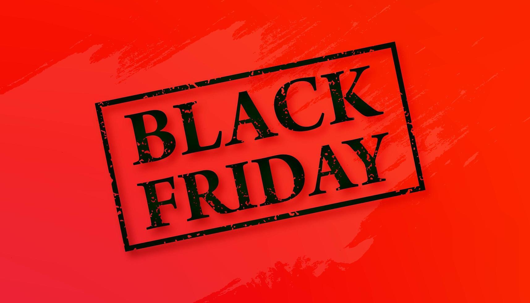 Black Friday Sale Banner Design vector
