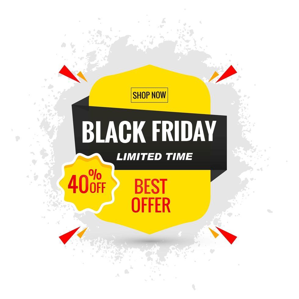fondo de banner de diseño de cartel de venta de viernes negro vector