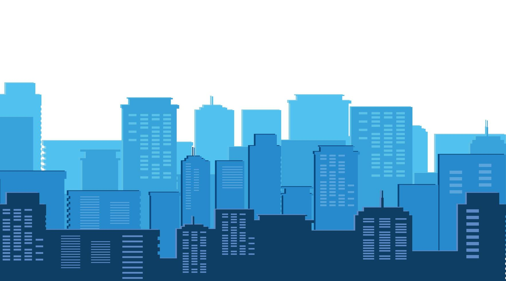 escena del día de los edificios del paisaje urbano vector