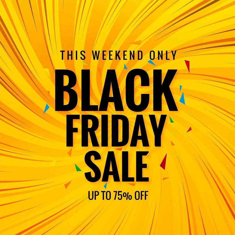 Fondo de banner de cartel de venta de viernes negro moderno vector