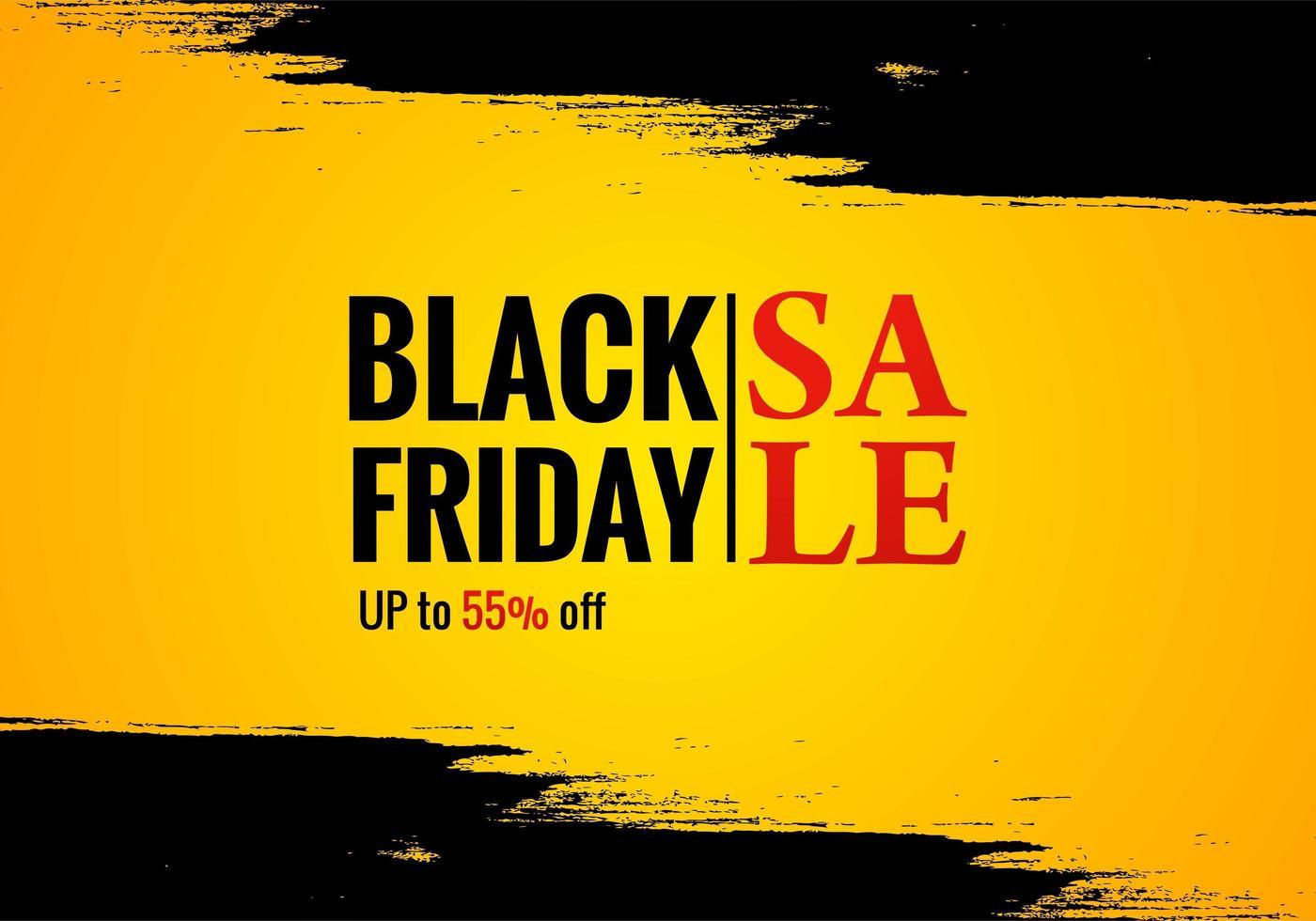 cartel de venta de viernes negro para fondo grunge vector