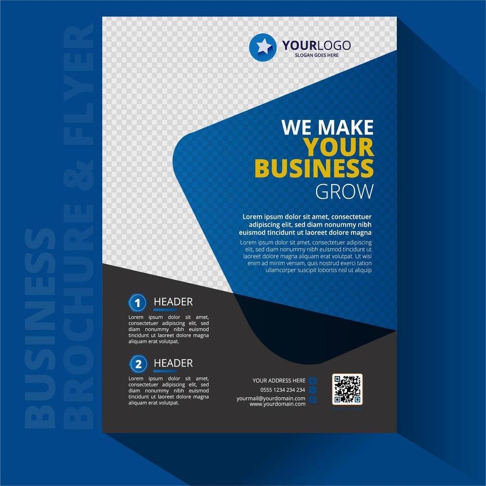 folleto de negocios diseño de volante a4 vector
